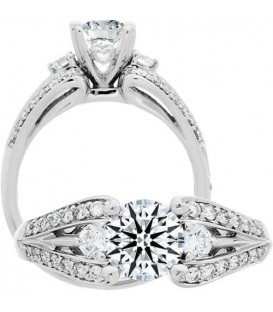 Semi-Mount - 1.10 Carat Exquisite 18kt White Gold Ring Setting