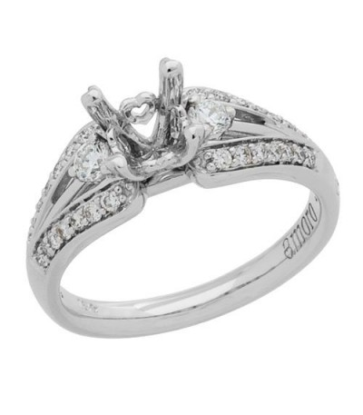 0.34 Carat Exquisite 18Kt White Gold Ring Setting