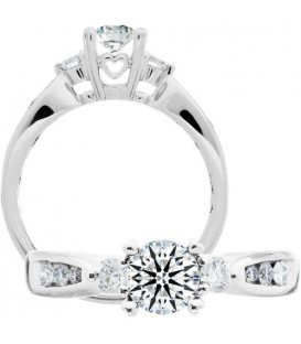 Semi-Mount - 0.75 Carat Exquisite 18kt White Gold Ring Setting