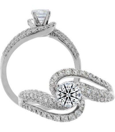 Semi-Mount - 1.05 Carat Exquisite 18kt White Gold Ring Setting
