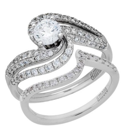 0.54 Carat Exquisite 18Kt White Gold Ring Setting