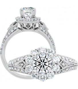 Semi-Mount - 1.50 Carat Exquisite 18kt White Gold Ring Setting