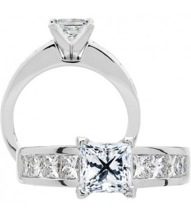 Semi-Mount - 2 Carat Exquisite 18Kt White Gold Ring Setting
