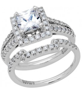 1.45 Carat Eternitymark Diamond Bridal Set