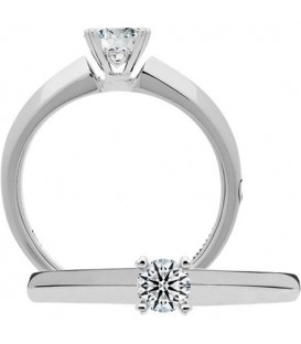 Semi-Mount - Round Brilliant Platinum Setting for 0.50 Ct Diamond.