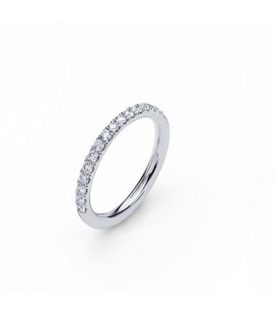 1.39 Carat Round Brilliant Eternitymark Diamond Ring Bridal Set in 18 Karat White Gold