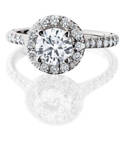 1.78 Carat Round Brilliant Eternitymark Diamond Ring Bridal Set in 18 Karat White Gold