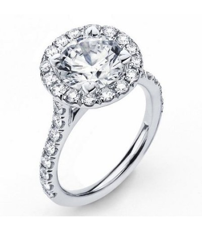 2.23 Carat Round Brilliant Eternitymark Diamond Ring Bridal Set in 18 Karat White Gold