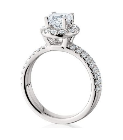 1.44 Carat Round Brilliant Eternitymark Diamond Ring Bridal Set in 18 Karat White Gold