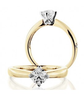 More about 0.50 Carat Round Brilliant Cut Diamond Solitaire Ring 18Kt Yellow Gold
