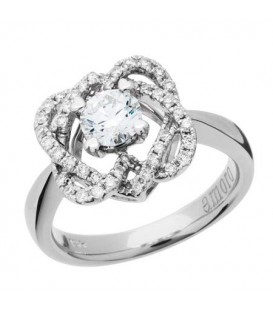 0.79 Carat Round Brilliant Eternitymark Diamond Ring 18Kt White Gold
