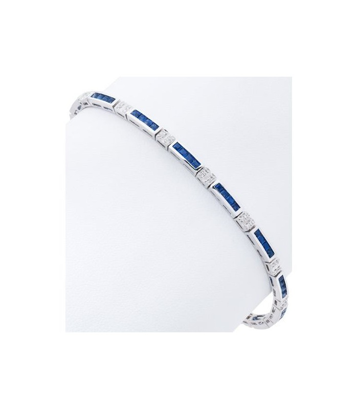 and carat bangle gold square white bangles bracelet amoro all diamond sapphire bracelets