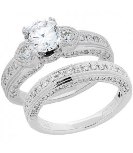 1.66 Carat Eternitymark Diamond Bridal Set 18Kt White Gold