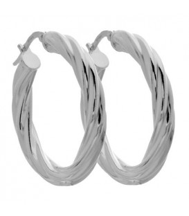 Earrings - Medium Hoop Earrings Italian Sterling Silver