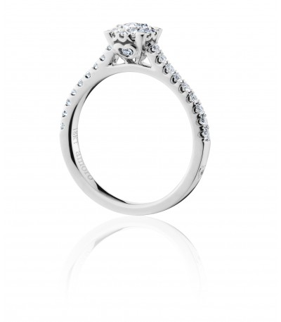 0.55 Carat Invisible Set Diamond Ring 18Kt White Gold