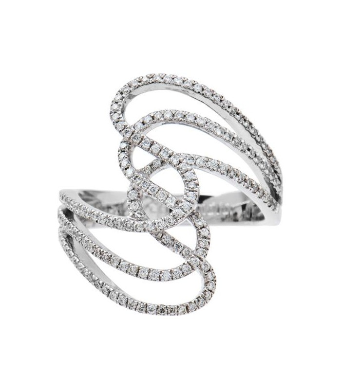 0.47 CARAT EXCLUSIVE DIAMOND 14KT WHITE GOLD RING