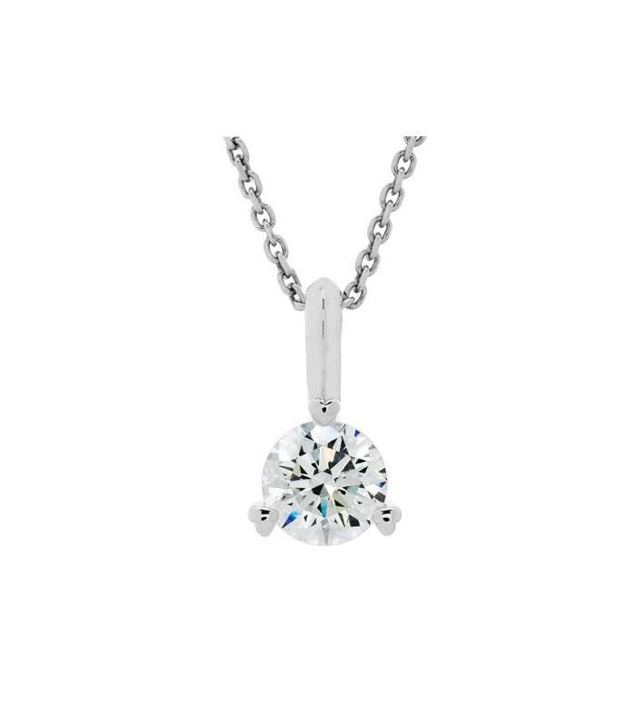 0.75 CARAT ETERNITYMARK DIAMOND SOLITAIRE NECKLACE 18KT WHITE GOLD