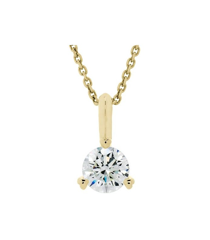 0.75 CARAT ETERNITYMARK DIAMOND SOLITAIRE NECKLACE 18KT YELLOW GOLD