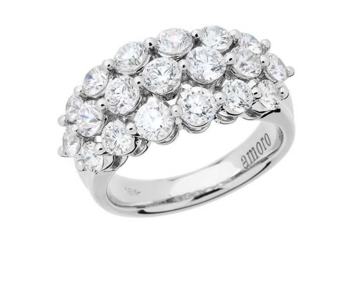2.55 CARAT ROUND BRILLIANT ETERNITYMARK DIAMOND RING 18KT WHITE GOLD