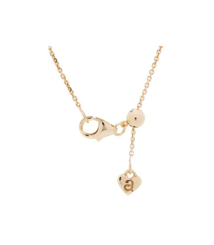ADJUSTABLE 18KT YELLOW GOLD ROLO CHAIN NECKLACE