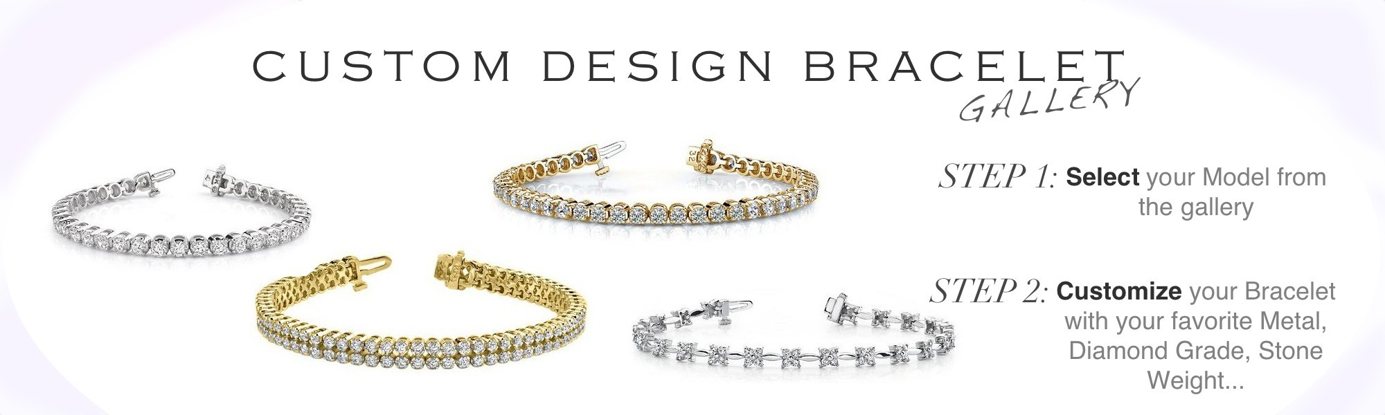 customize your own diamond bracelet amoro
